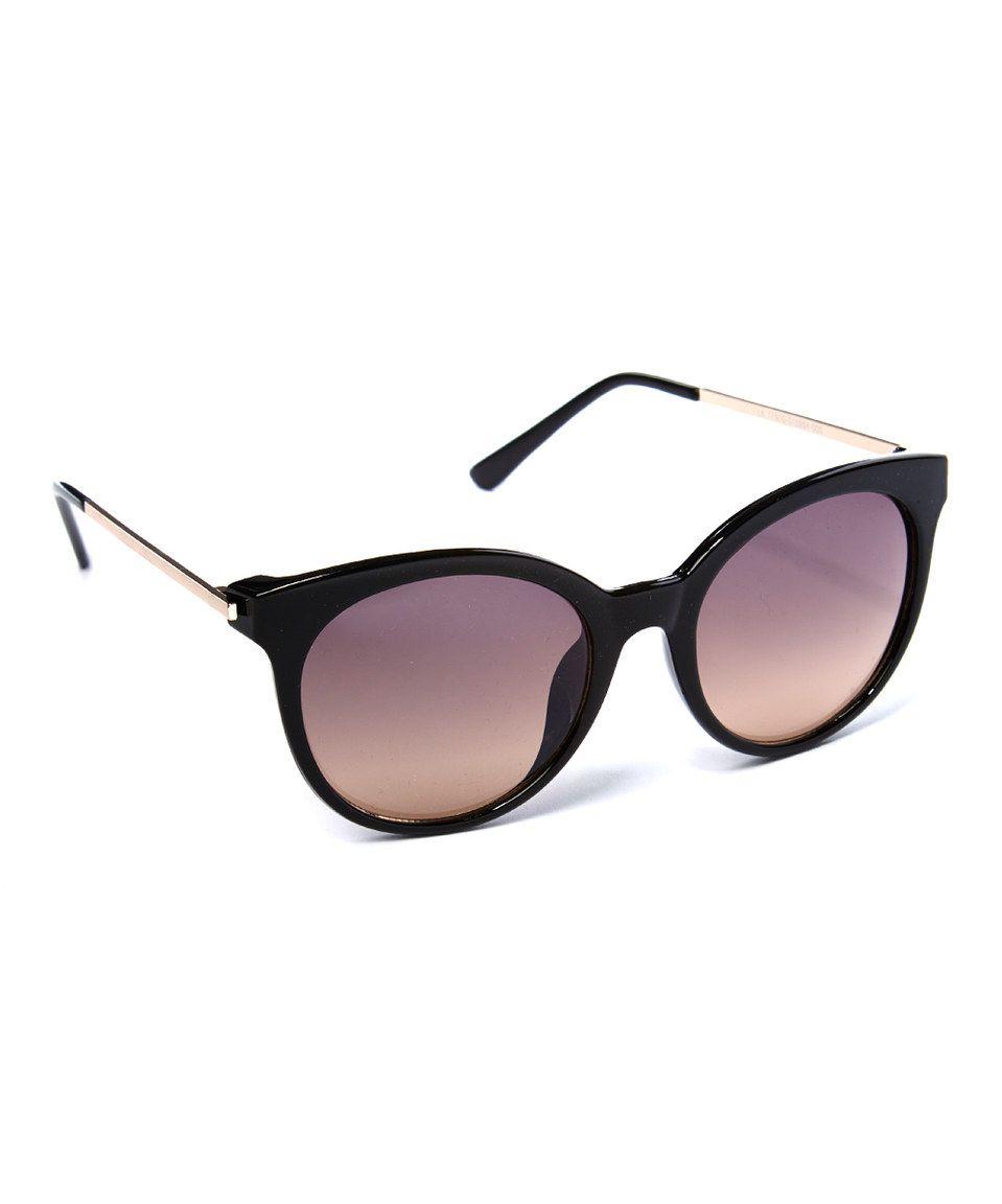 Look what I found on #zulily! Eye Design Black & Smoke Round Sunglasses by Eye Design #zulilyfinds
