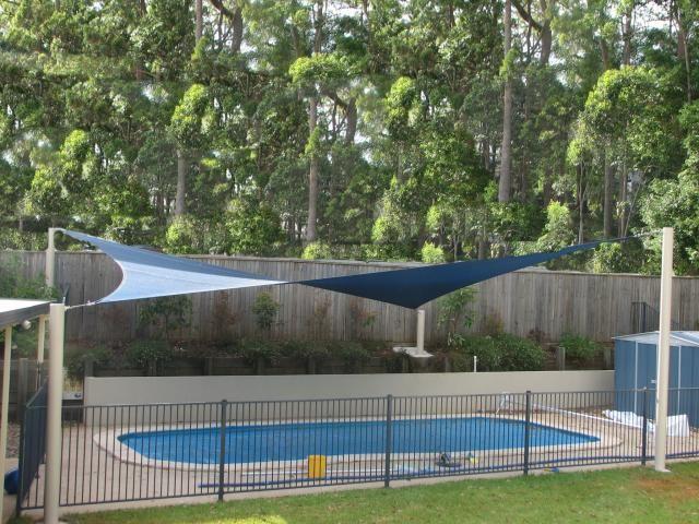 Shade Sail Over Pool Buderim Pool Shade Shade Sail Backyard