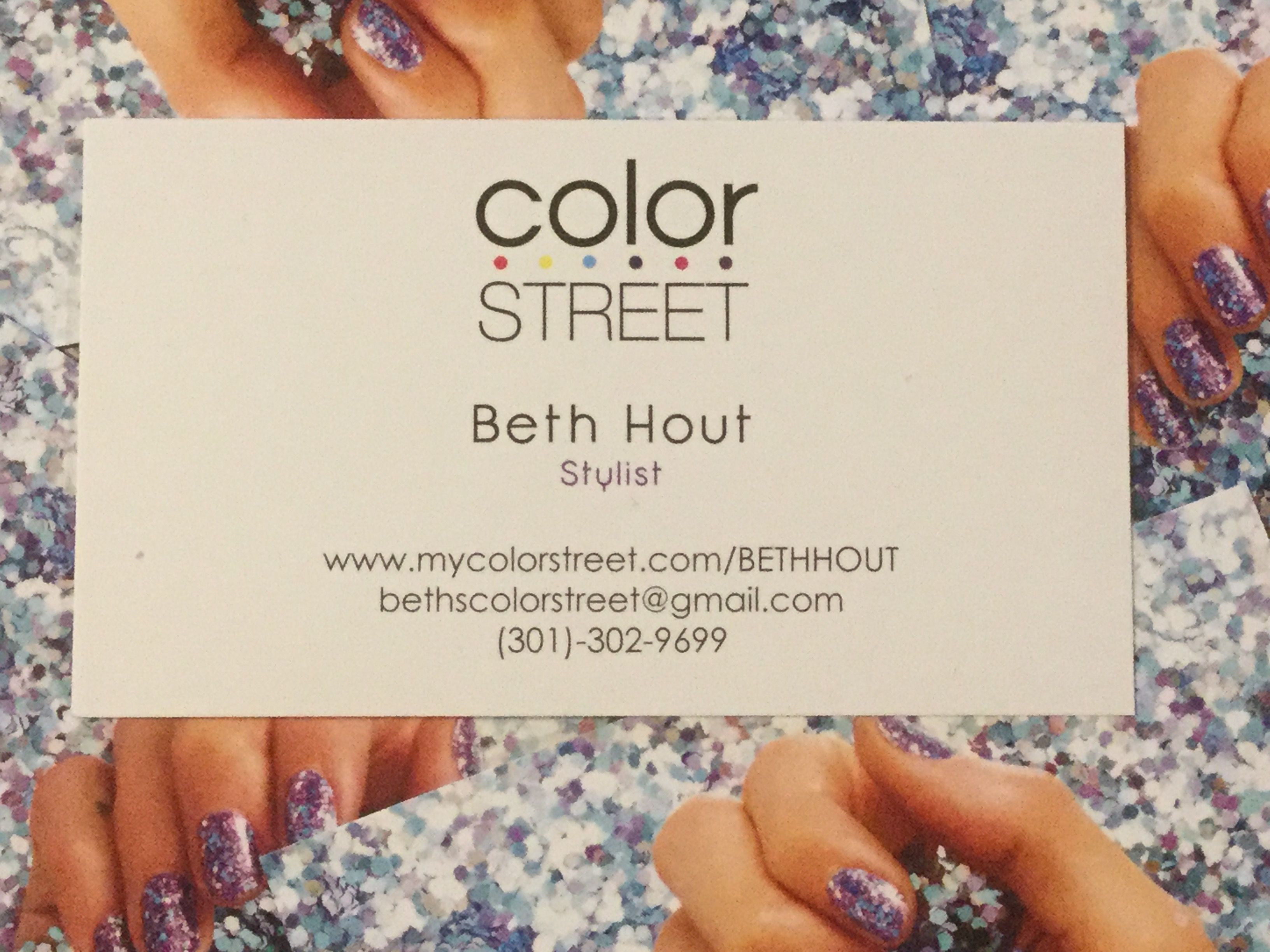 Color Street Nail Business Card. | Color Street Nails | Pinterest