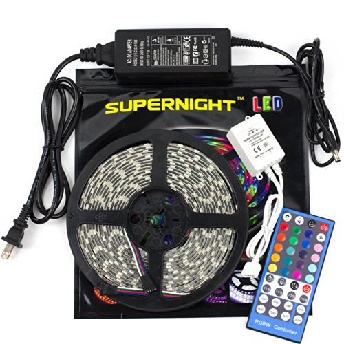 Ledwholesalers Rgb Color Changing Kit With 44 Button Controller Power Supply And Ip66 Waterpro Led Tape Lighting Led Strip Lighting Flexible Led Strip Lights