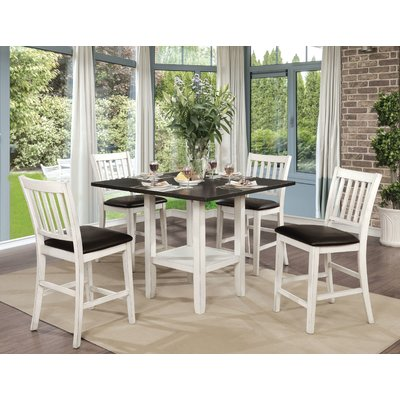 Longshore Tides Jadyn 5 Piece Counter Height Drop Leaf Dining Set
