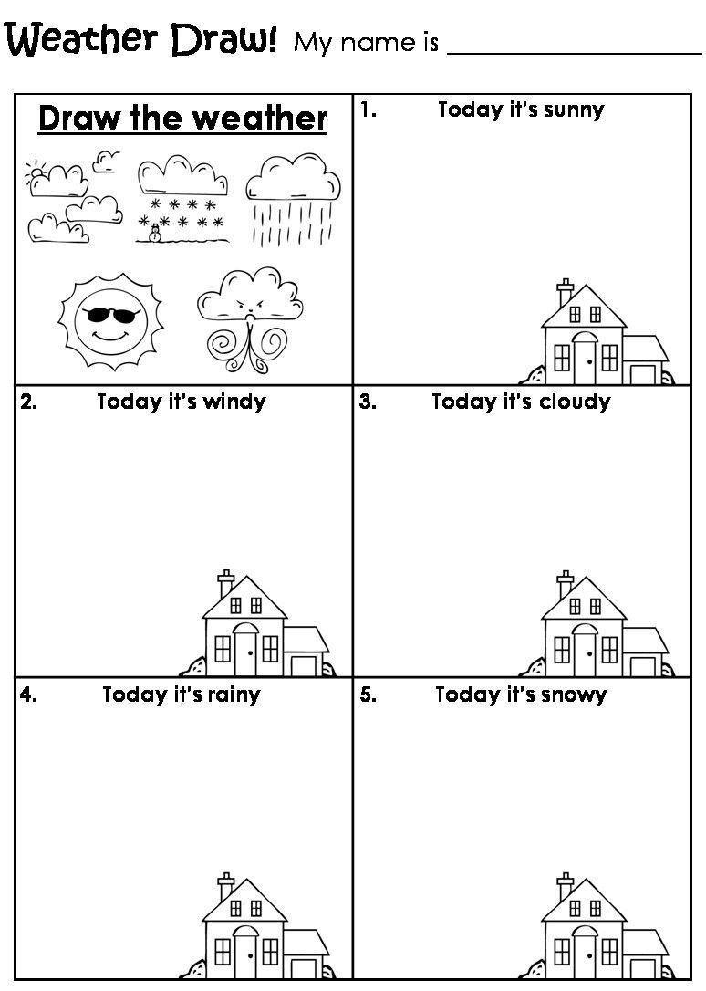 Weather Worksheets For 1st Graders Worksheet Weather In 2020 Weather Worksheets Kindergarten Worksheets Printable Kindergarten Worksheets