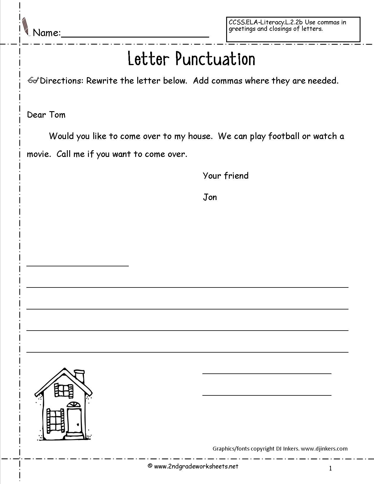 Letters And Parts Of A Letter Worksheet With Images Letter