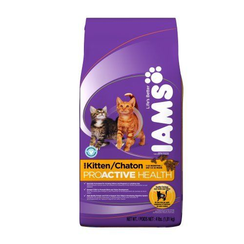 Iams Kitten Proactive Health Dry Cat Food 4 Pound Bags Pack Of 5 By Iams Http Www Amazon Com Dp B0026lkjhu Ref Cm Sw R Dry Cat Food Cat Food Kitten Food