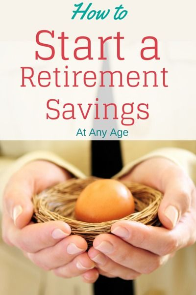 How to Start a Retirement Savings At Any Age #financenestegg