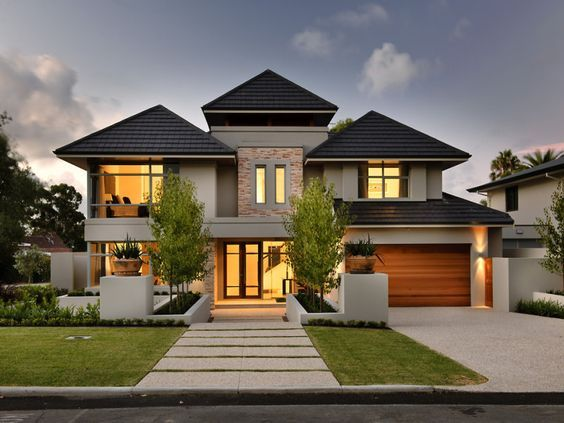 Best How To Pick The Exterior Paint Colors Match Best With The Roof Facade House Double Storey 400 x 300