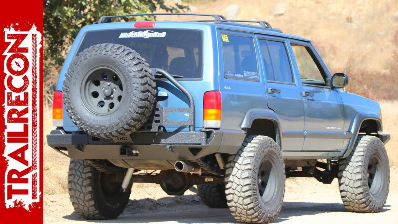 Jeep Xj Rear Bumper And Tire Carrier Install Smittybilt Xrc Jeep Xj Jeep Jeep Cherokee Xj