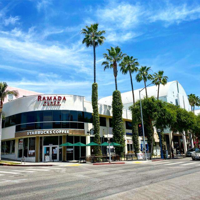 The Ramada Plaza Hotel on Santa Monica Boulevard in West Hollywood is walkable to both Sunset and Melrose. #GlitteratiToursLA