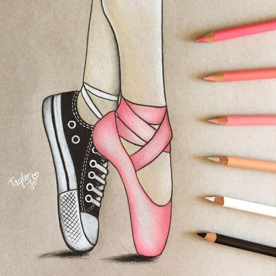 Bellissimo Disegno Di Ballerina Disegni A Pastello Come Disegnare Le Facce