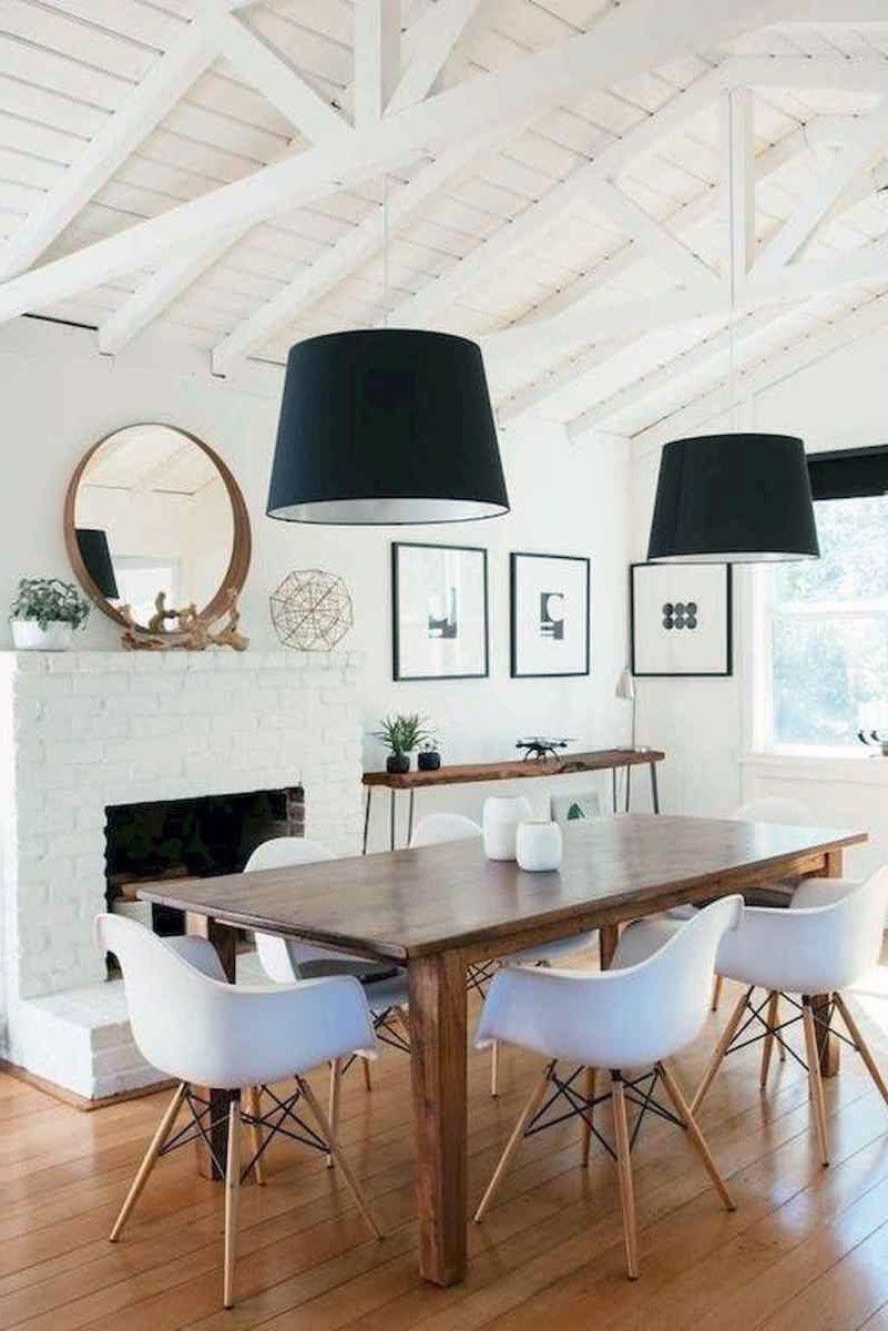 43 Amazing Fireplace Ideas For Scandinavian Living Rooms Scandinavian Dining Room Affordable Dining Room Modern Farmhouse Dining Room Decor