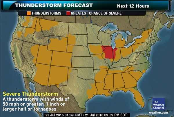 Thunderstorm Forecast Weather Weather The Weather Channel - Us-map-weather-forecast