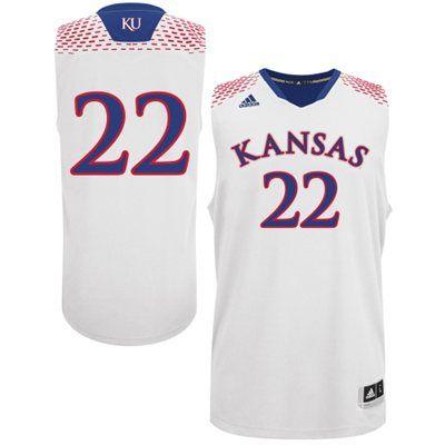 fb1ef6afc450 adidas Kansas Jayhawks 2014 March Madness  22 Basketball Jersey ...