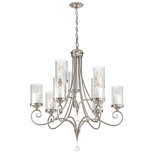 Kichler Dining Room Lighting Gorgeous Kichler Lara 2Tier Chandelier With 9 Lights  72 Chain Included Decorating Inspiration