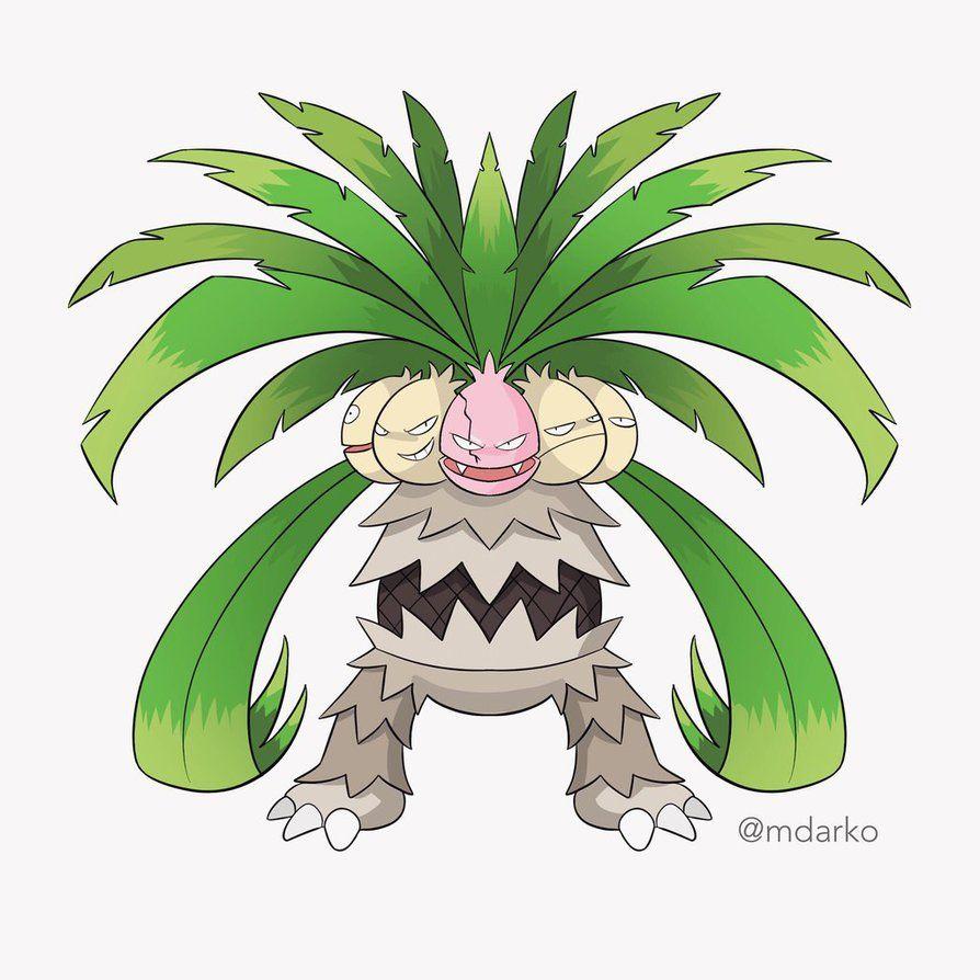 Megaexeggutorbyartofmarcodang pokemon fusion