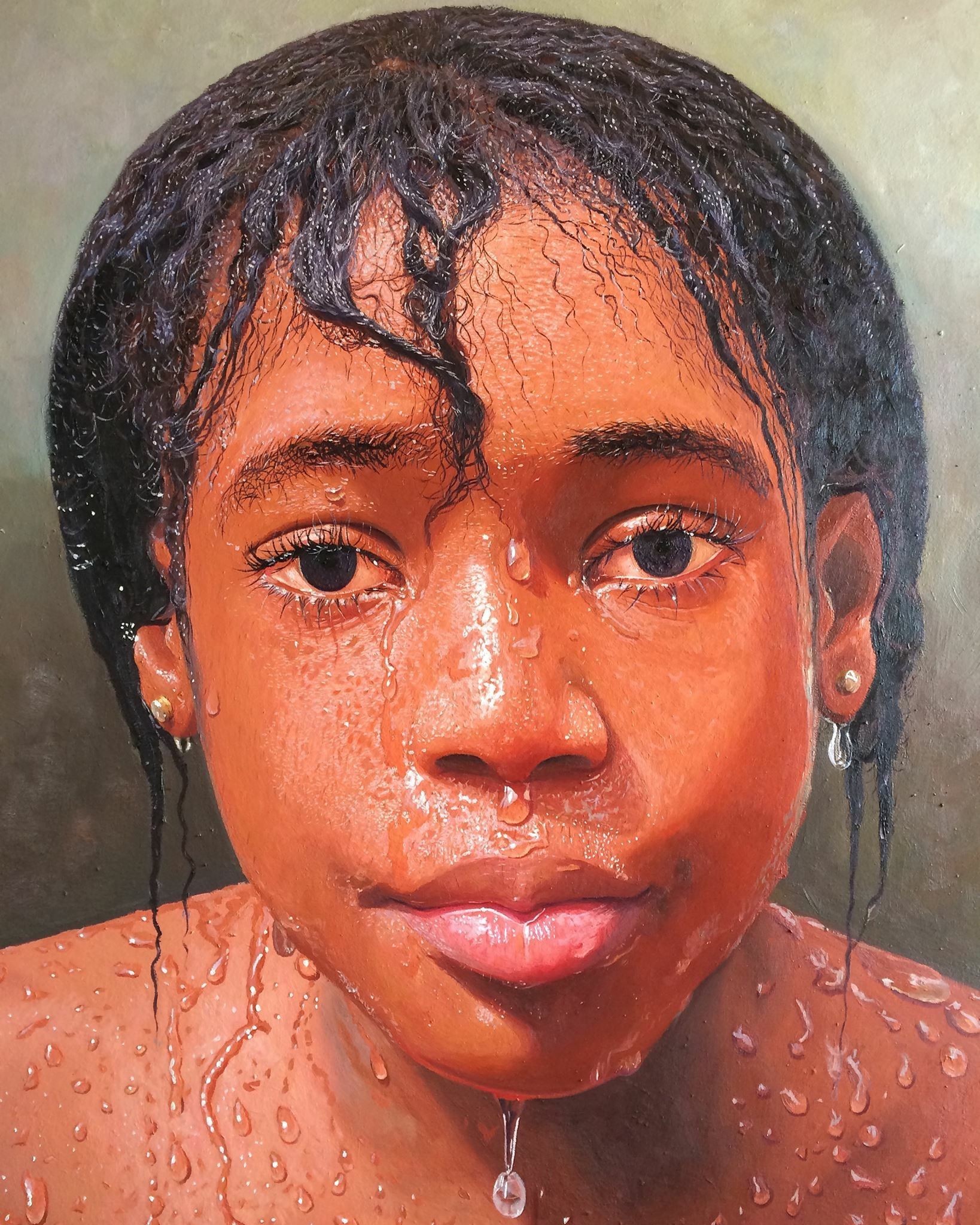 This picture looks so real but it is a drawing by a nigerian artist that lives in lagos nigeria by the name of oresegun olumide