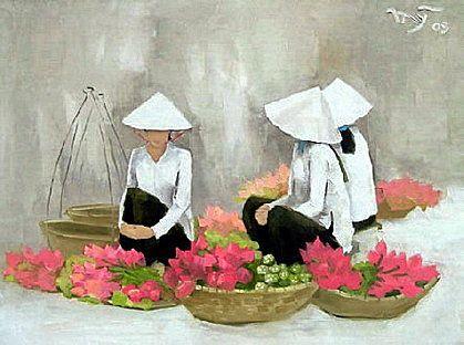 golden lotus arts ha huynh my femmes pinterest peinture asie et porcelaine. Black Bedroom Furniture Sets. Home Design Ideas
