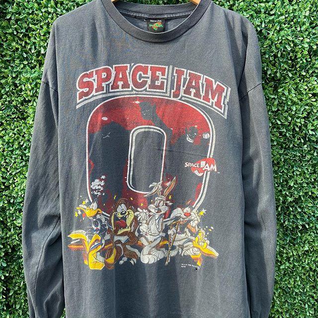 1996 Single Dingle Space Jam Long Sleeve Perfectly Faded Long Sleeve Tshirt Men Mens Tops Mens Long Sleeve
