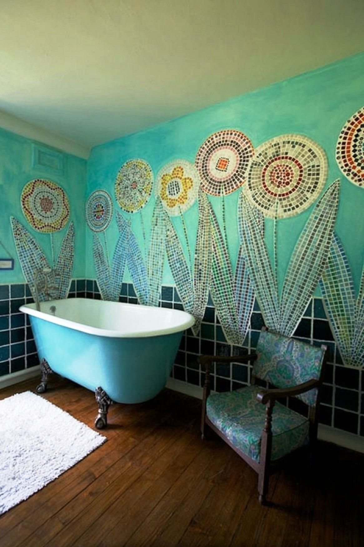 Awesome Bohemian Bathroom Design Inspirations Turquoise
