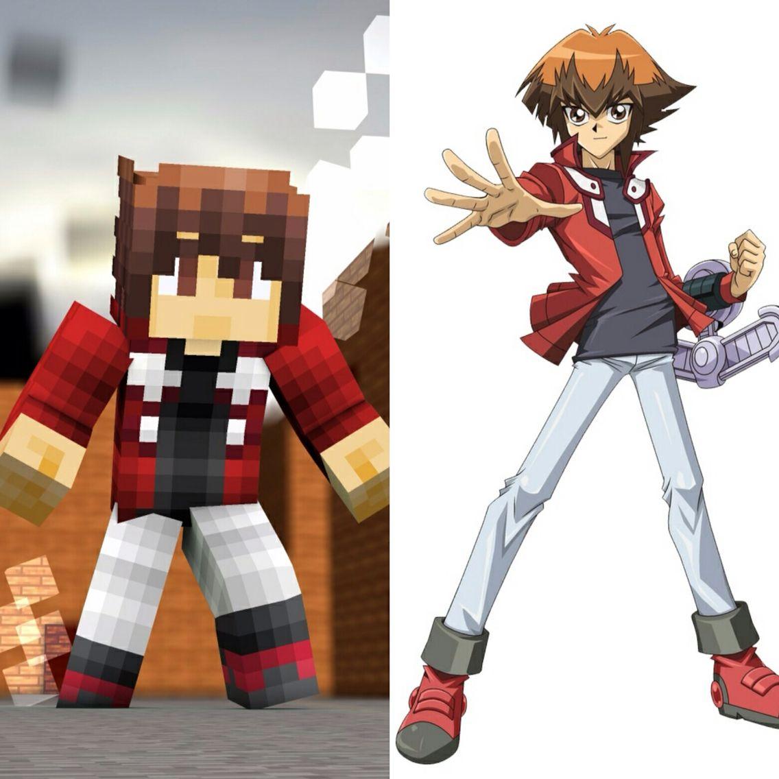 YukiTokus Skin On Minecraft VS Jaden Yuki Judai Yuki From Yu - Skin para minecraft de yugioh