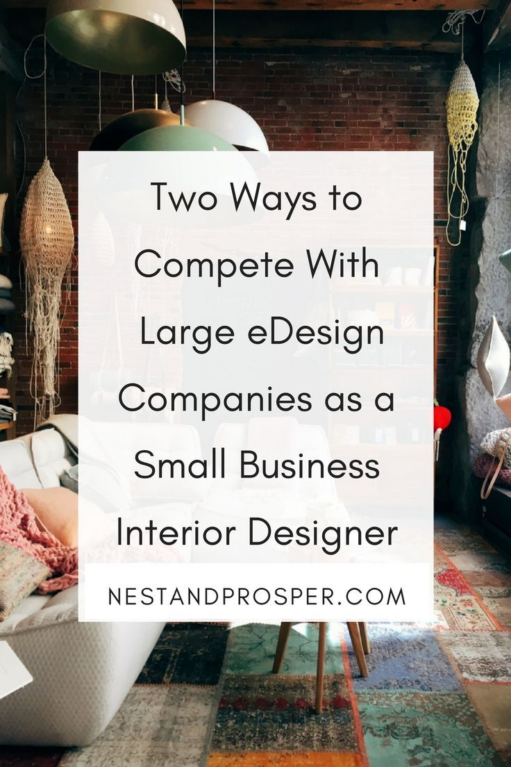 Two Ways To Compete With Large Edesign Companies As A Small