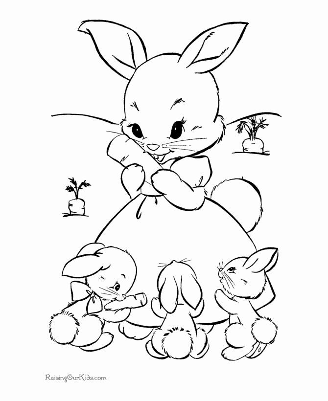 Spring Bunny Coloring Pages Inspirational Little Baby ...