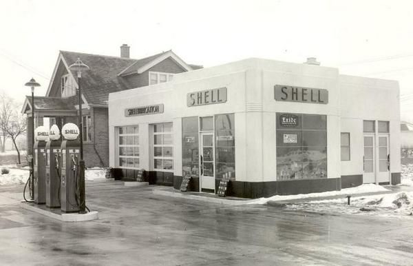 1940's Shell Station