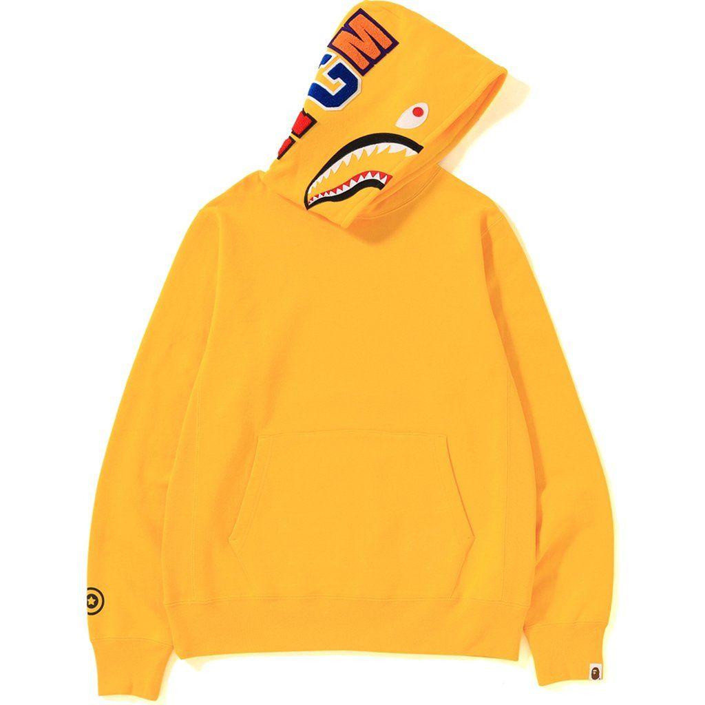 Bape Shark Pullover Hoodie Yellow Bape Cloth Bape Hoodie Yellow Hoodie Bape [ 1024 x 1024 Pixel ]