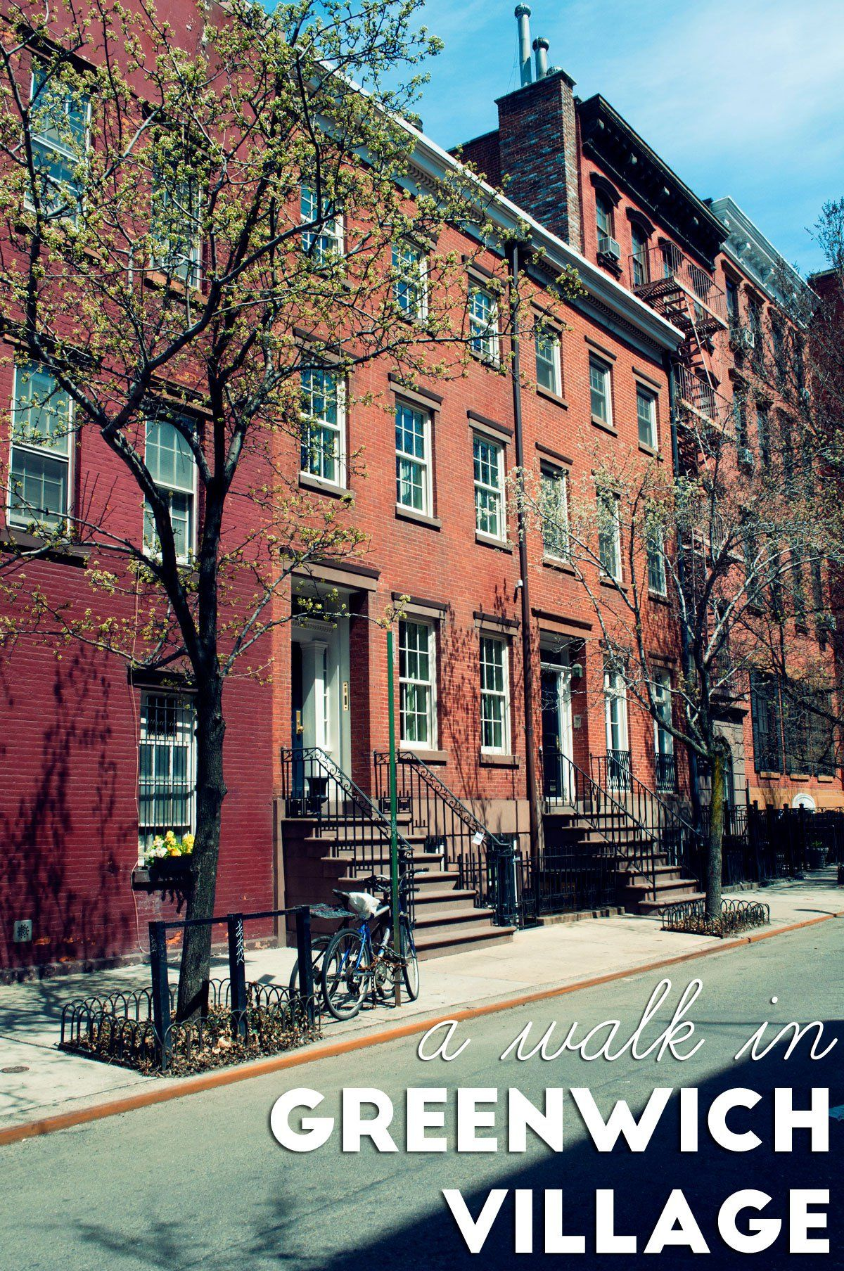A walk in Greenwich Village, New York City | Greenwich Village has lots to explore: shopping streets, interesting architecture, Universities and Sex and the City spots! Need I say more?