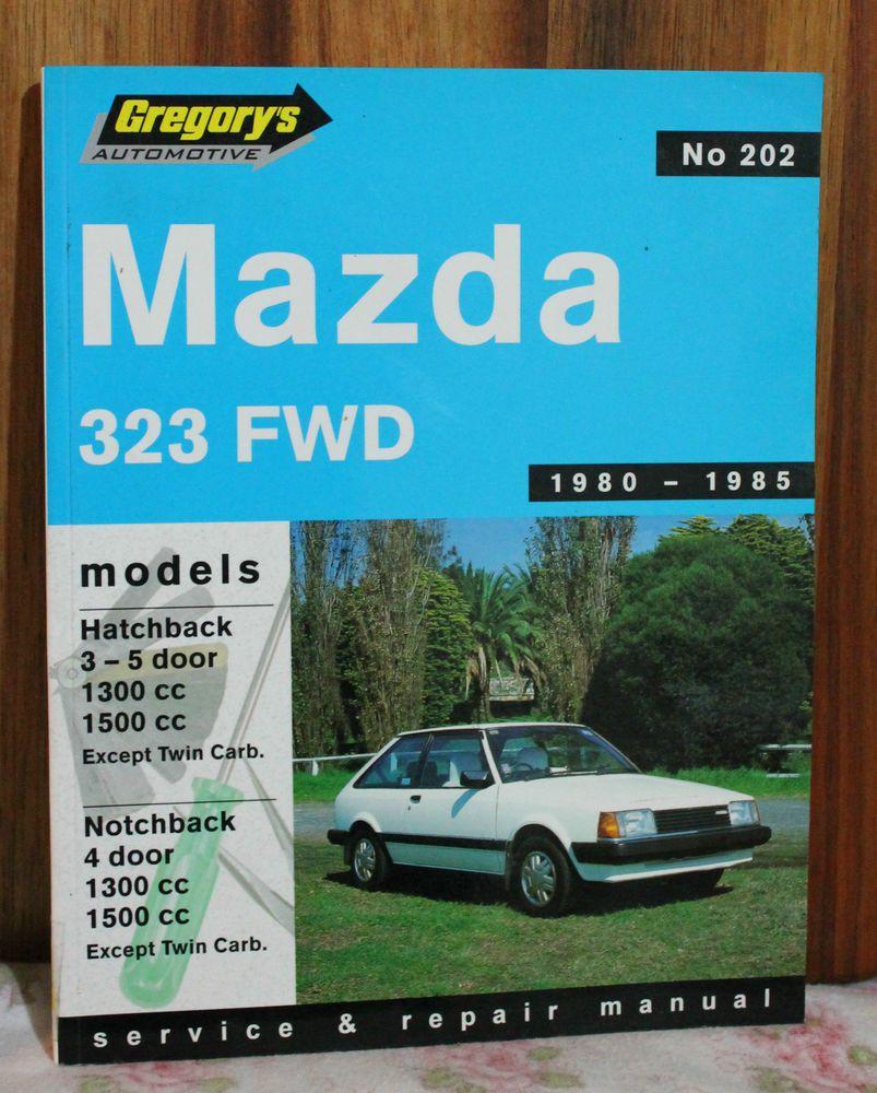 gregorys car manual no 202 mazda 323 fwd 1980 1985 s c. Black Bedroom Furniture Sets. Home Design Ideas