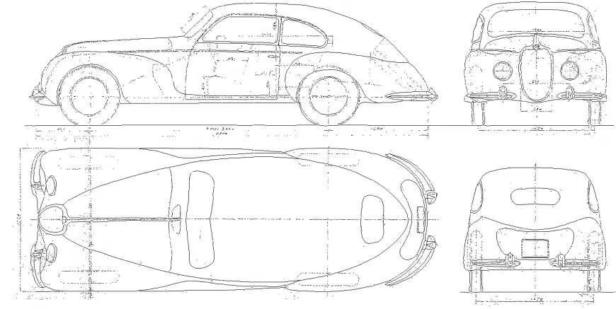Vintage Car Detail Drawing In Dwg Autocad File Car Detailing Detailed Drawings Vintage Cars