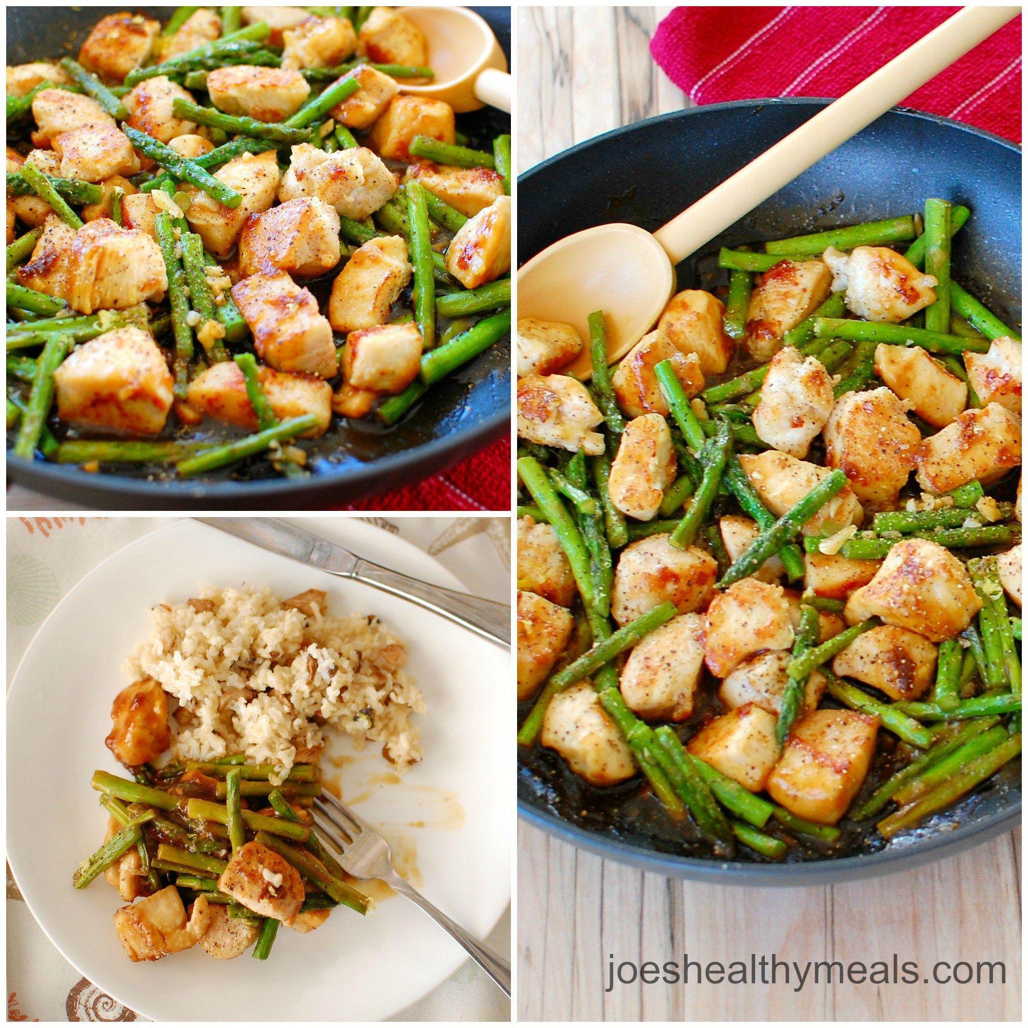 Asian chicken asparagus think