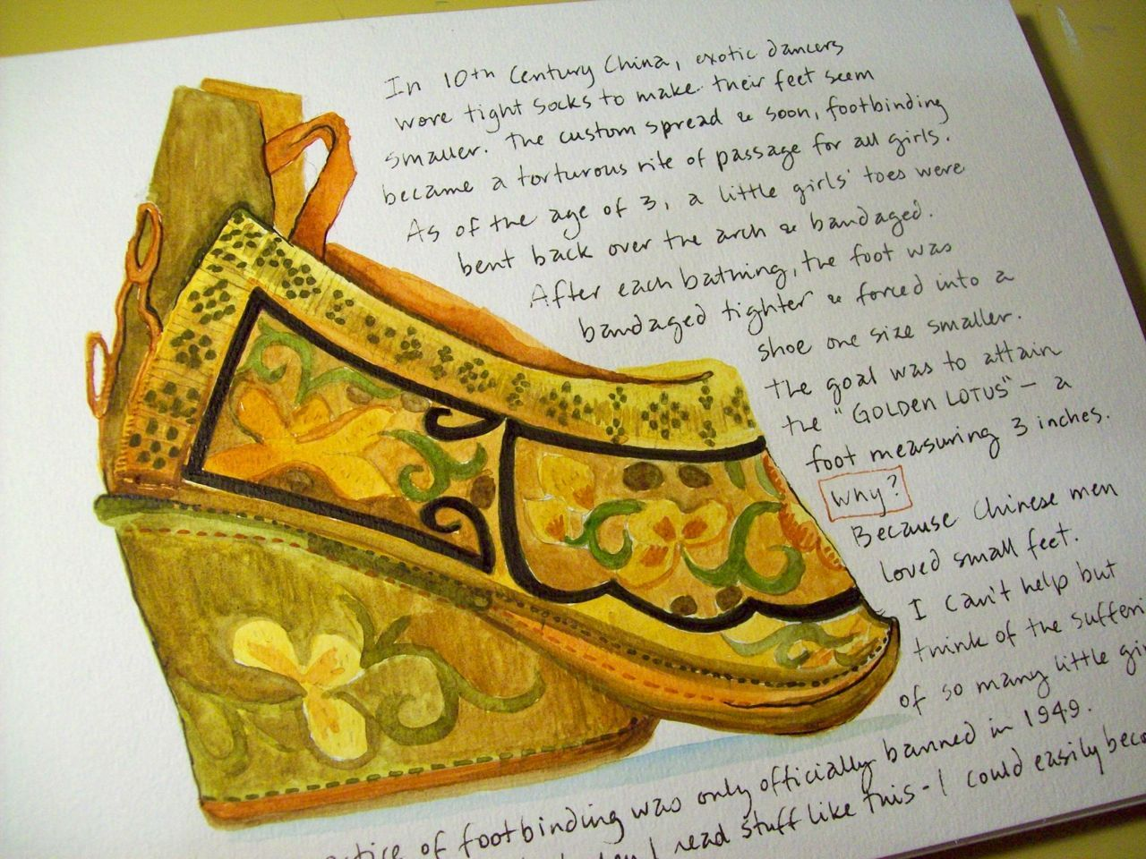 Foot Binding In China Journal Illustrations And Musings December