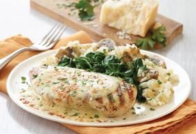Creamy Chicken On Linguine Recipe Clean Dinner Recipes Creamy Parmesan Chicken Healthy Dishes