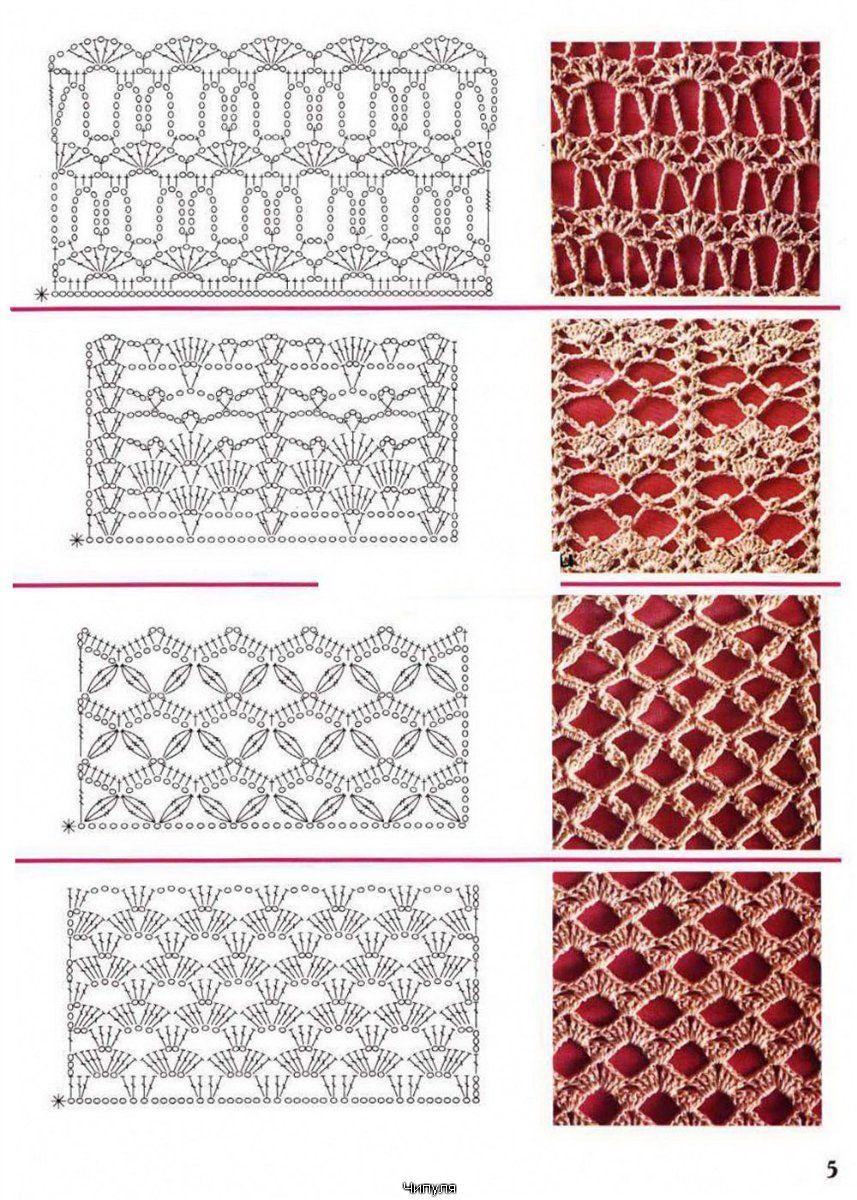 Crochet patterns | puntos | Pinterest | Puntadas, Tejido y Ganchillo