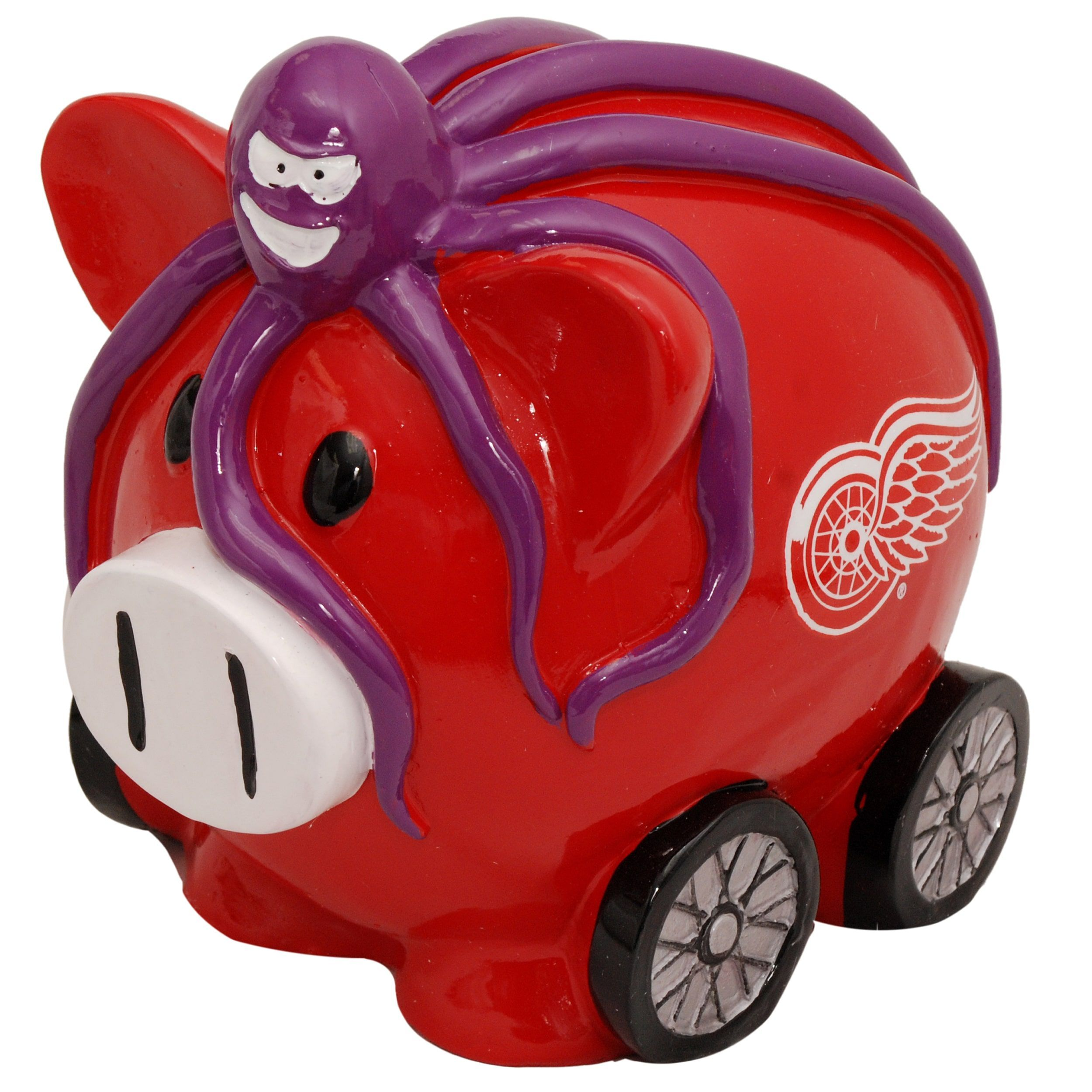 Forever Collectibles NHL Detroit Redwings Thematic Resin Piggy Bank ... 76485637a
