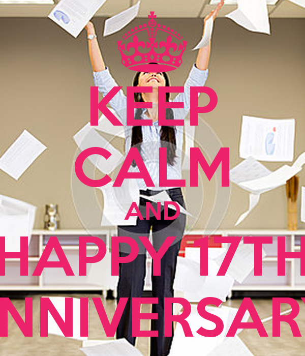Gift For 17th Wedding Anniversary: Keep Calm And Happy 17th Anniversary Poster Amanda