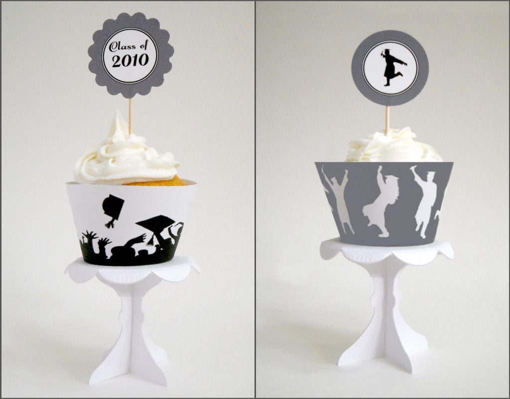 Simply Silhouettes: Free Printable Graduation Cupcake Toppers and ...