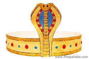 Egyptian Headband craft | activités parascolaire | Costume égyptien, Fête égyptienne et Art égyptien