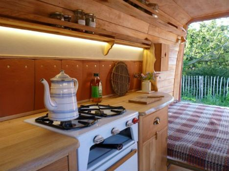living in a van rustic cozy converted campers designs ideas on dornob - Camper Design Ideas