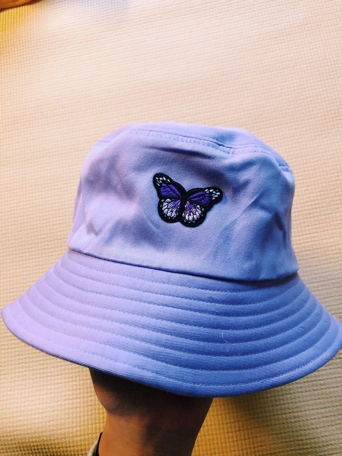 Hand Dyed Bucket Hat Butterfly Blue Tie Dye Bucket Hat Butterfly Bucket Hat Unique Tie Dye Fishermans Bucket Hat Blue Tie Dye Bucket Hat