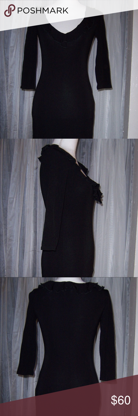 New hugo buscati collection little black dress xs new without tags