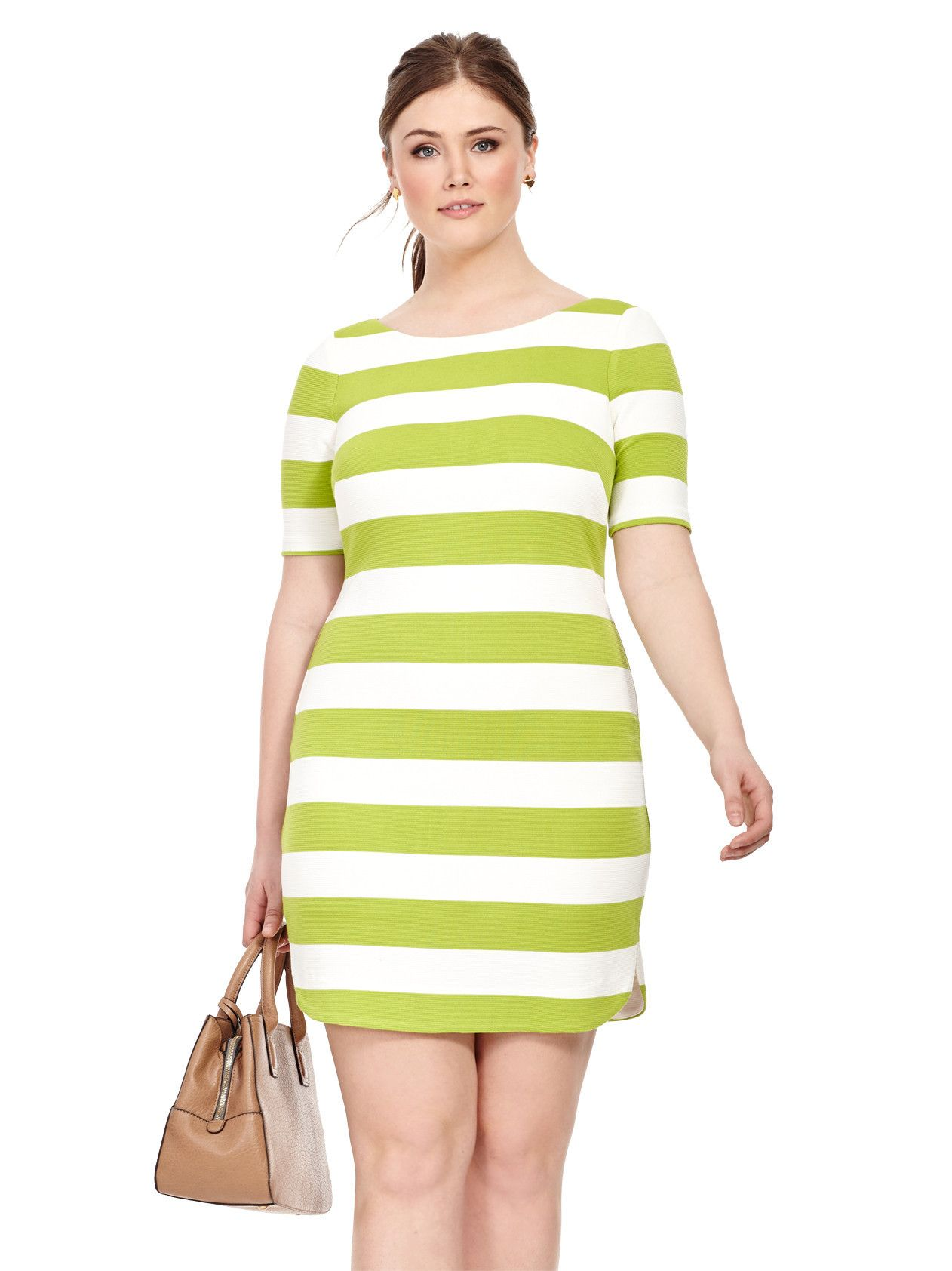Lime striped dress with contrast zipper clothes pinterest