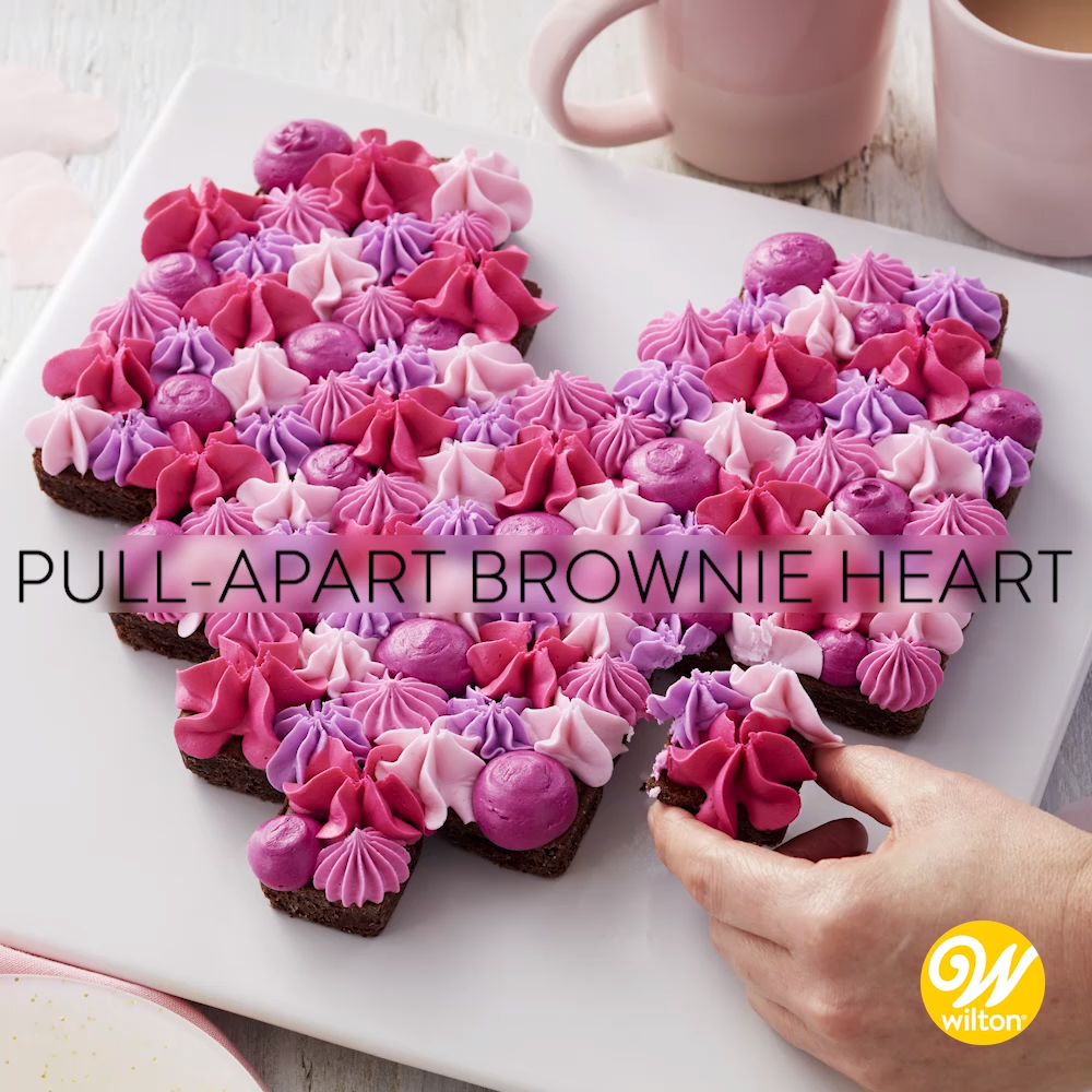 How to Make a Pull-Apart Brownie Heart #holidaytreats