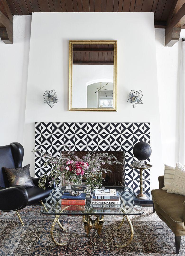 design dictionary: encaustic tile | encaustic tile, fireplace
