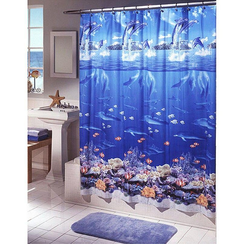 Beach Themed Cloth Shower Curtains