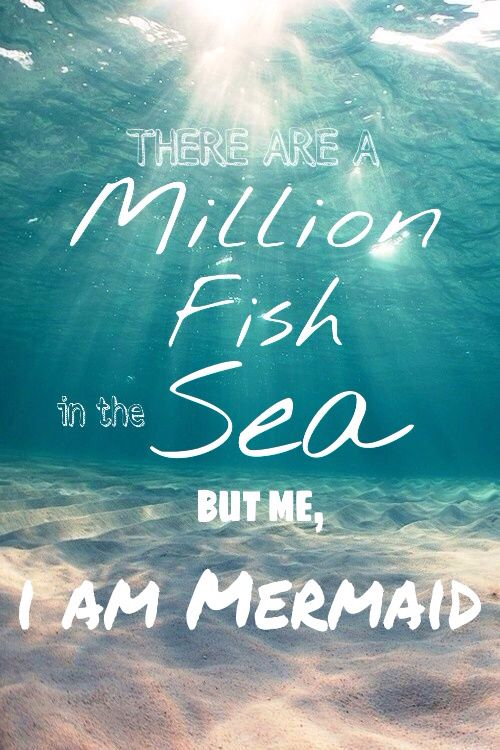 There Are A Million Fish In The Sea But Me I Am Mermaid Iphone Wallpaper Quote