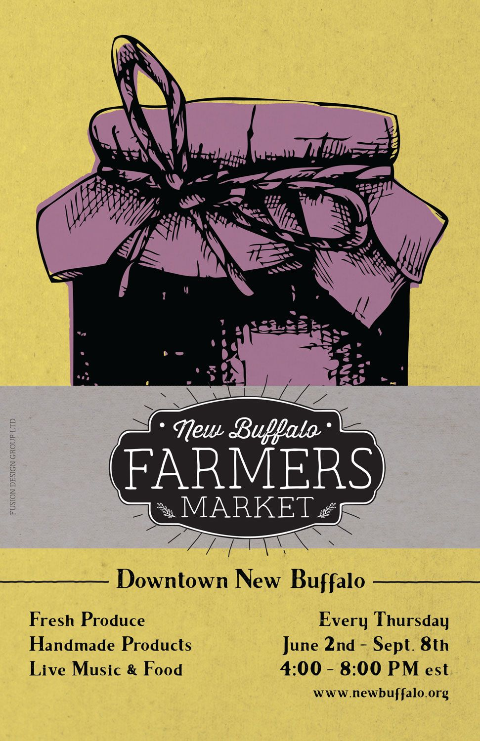 3 of 3 poster designed for farmers market in New Buffalo ...