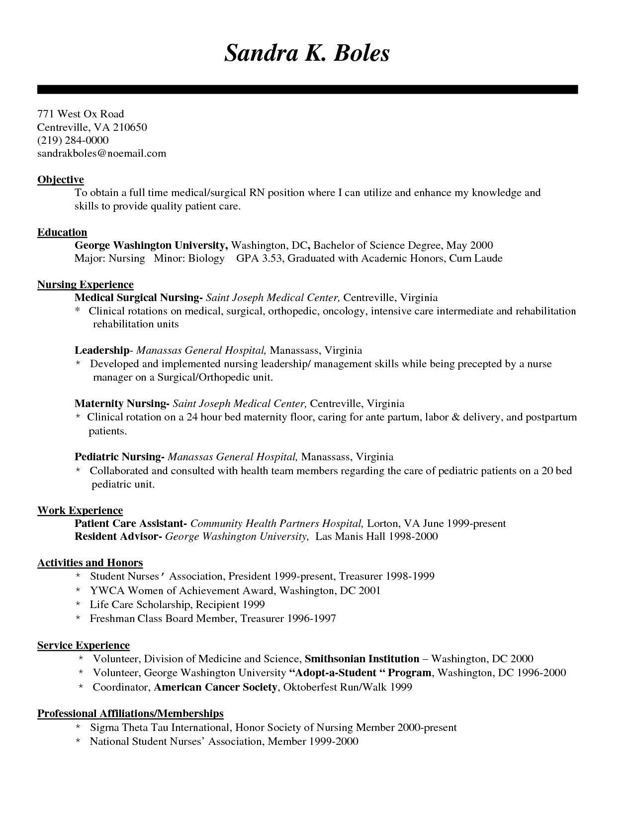 Writing Tips To Make Resume Objective With Examples Registered Nurse Resume Nursing Resume Template Nursing Resume