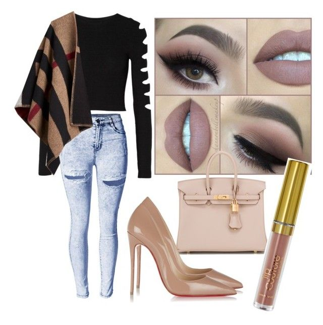 """NUDE ISH"" by makeupandkiss on Polyvore featuring beauty, Hermès, Cushnie Et Ochs, Christian Louboutin and Burberry"