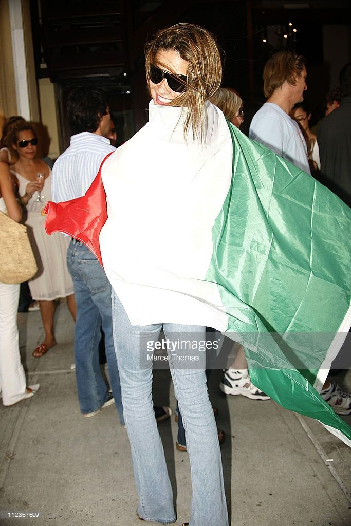 Adriana Lima during Sean Combs, Adriana Lima, and Jay-Z Celebrate Italy's World Cup Win Outside Cipriani's Restaurant - July 9, 2006 at Soho in New York City, New York, United States.
